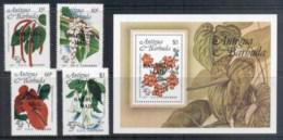 Barbuda 1984 Flowers + MS MUH - Antigua And Barbuda (1981-...)