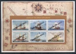 Barbuda 1996 Explorers, Sailing Ships MS MUH - Antigua And Barbuda (1981-...)