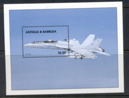 Barbuda 2000 Aircraft MS MUH - Antigua And Barbuda (1981-...)