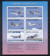 Barbuda 2000 Aircraft Sheetlet MUH - Antigua And Barbuda (1981-...)