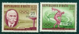 Haiti 1960 Olympic Games Surch (2) MLH Lot35481 - Haiti