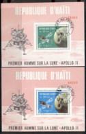 Haiti 1969 Apollo Space Missions 2x MS CTO - Haiti