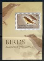 Grenada Carriacou & Petite Martinique 2007 Beautiful Birds Of The Caribbean MS (crease) MUH - Grenada (1974-...)