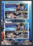 Grenada Carriacou & Petite Martinique 2009 WWF Caribbean Spiny Lobster MS MUH - Grenada (1974-...)