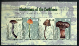 Grenada Carriacou & Petite Martinique 2011 Mushrooms, Funghi MS MUH - Grenada (1974-...)