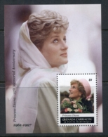 Grenada Carriacou & Petite Martinique 2012 Princess Diana In Memoriam 15th Anniv. MS MUH - Grenada (1974-...)