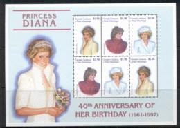 Grenada Carriacou & Petite Maryinique 2001 Princess Diana 40th Birth Anniversary MS MUH - Grenada (1974-...)