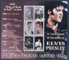 Grenada Carriagou & Petite Martinique 2005 Elvis Presley 70th Birthday MS MUH - Grenada (1974-...)