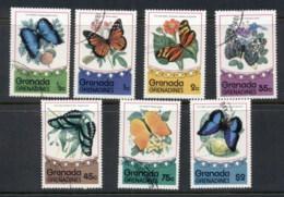 Grenada Grenadines 1975 Flowers & Insects, Butterflies CTO - Grenada (1974-...)