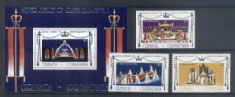 Grenada Grenadines 1977 QEII Silver Jubilee +MS MUH - Grenada (1974-...)