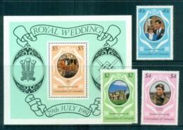 Grenada Grenadines 1981 Charles & Diana Royal Wedding +MS MUH Lot81860 - Grenada (1974-...)