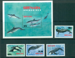 Grenada Grenadines 1983 Marine Mammals, Whale, Dolphin, Porpoise + MS MUH Lot55099 - Grenada (1974-...)