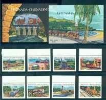 Grenada Grenadines 1984 Trains + 2x MS MUH Lot51941 - Grenada (1974-...)