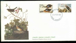 Grenada Grenadines 1985 Audubon Birds,  Franlkin Mint FDC Lot79679 - Grenada (1974-...)