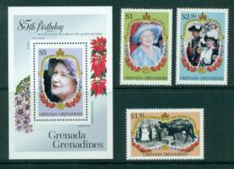 Grenada Grenadines 1985 Queen Mother 85th Birthday + MS MUH Lot30241 - Grenada (1974-...)