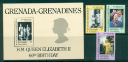 Grenada Grenadines 1986 QEII 60th Birthday + MS MUH Lot30242 - Grenada (1974-...)