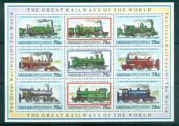 Grenada Grenadines 1992 Great Railways Of The World MS MUH - Grenada (1974-...)