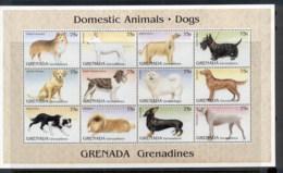 Grenada Grenadines 1995 Domestic Animals, Dogs Sheetlet MUH - Grenada (1974-...)