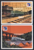 Grenada Grenadines 1999 Trains, Philexfrance 2xMS MUH - Grenada (1974-...)