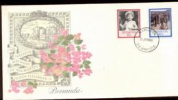 Bermuda  1986 QEII 60th Birthday 2v Fleetwood FDC - Bermuda