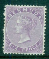 Bermuda 1874 QV 6d Lilac MUH - Bermuda