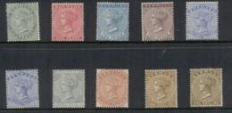 Bermuda 1883-1904 QV Portrait Atts To 1/- Inc Shades Wmk Crown CA MLH - Bermuda
