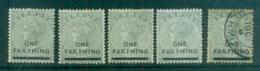 Bermuda 1901 QV 1f On 1/- Grey Asst MH/FU Lot79193 - Bermuda
