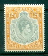 Bermuda 1950 KGVI 12/6d Grey & Pale Orange MLH - Bermuda