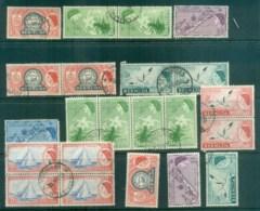 Bermuda 1953-58 QEII Pictorials Asst FU/MLH Lot79209 - Bermuda