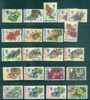 Bermuda 1970-76 Flower Defins Asst FU Lot79228 - Bermuda