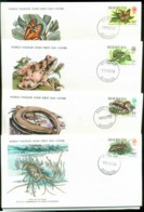 Bermuda 1979 WWF,Butterfly, Frog, Skink, Lobster, Franlkin Mint (with Inserts) 4xFDC Lot79631 - Bermuda