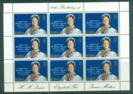 Bermuda 1980 Queen Mother 80th Birthday Sheetlet MUH Lot79232 - Bermuda