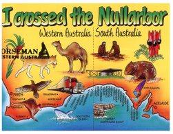 (160) Australia - Map - Humour - Nullarbor Desert Crossing - Maps