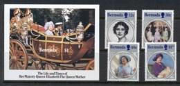 Bermuda 1985 Queen Mother 85th Birthday + MS MUH - Bermuda
