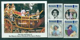 Bermuda 1985 Queen Mother 85th Birthday + MS MUH Lot30194 - Bermuda