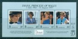 Bermuda 1998 Princess Diana In Memoriam MS MUH Lot81810 - Bermuda