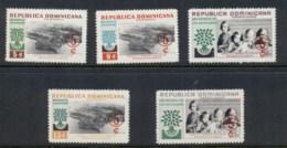 Dominican Republic 1960 World Refugee Year Surch MUH - Dominican Republic