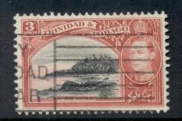 Trinidad & Tobago 1938-41 KGVI Pictorials 3c Mt Irvine, Carmine & Black FU - Trinidad & Tobago (1962-...)