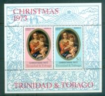 Trinidad & Tobago 1973 Xmas MS MUH - Trinidad & Tobago (1962-...)
