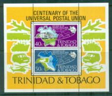 Trinidad & Tobago 1974 UPU Centenary MS MUH - Trinidad & Tobago (1962-...)