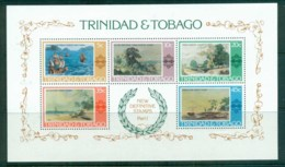 Trinidad & Tobago 1976 Paintings, Columbus, Ships MS MUH - Trinidad & Tobago (1962-...)