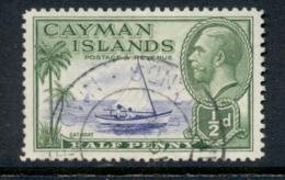 Cayman Is 1935-36 KGV Pictorial 0.5d Catboat FU - Iles Caïmans