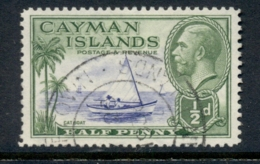 Cayman Is 1935-36 KGV Pictorial 0.5d Catboat FU - Cayman Islands