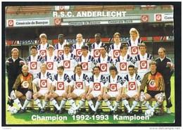 R.S.C. ANDERLECHT FOOTBALL TEAM Calcio Soccer Foot Avec Prix Des Abonnements Belgique (2 Scans) Belgium - Anderlecht