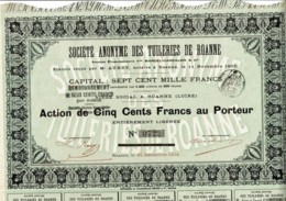 42-TUILERIES DE ROANNE. Anciens Ets Vve MARCEL-CANCALON & Cie. Tirage 1 400. - Autres