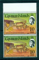 Cayman Is 1974-75 10c Spiny Lobster & Coins Pr Defin MUH Lot72539 - Cayman Islands
