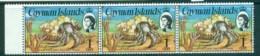 Cayman Is 1974-75 1c Hermit Crab Defin Str 3 MUH Lot72528 - Cayman Islands