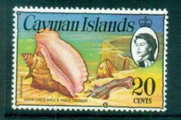 Cayman Is 1974-75 20c Queen Conch, Pistol & Cup Defin MUH Lot72540 - Cayman Islands