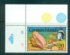 Cayman Is 1974-75 20c Queen Conch, Pistol & Cup Defin MUH Lot72573 - Cayman Islands