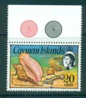 Cayman Is 1974-75 20c Queen Conch, Pistol & Cup Defin MUH Lot72574 - Cayman Islands